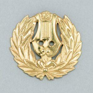 Suomenruotsalainen lakkilyyra, 21mm, kultaa